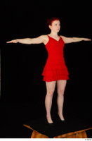 Vanessa Shelby red dress standing t poses whole body 0002.jpg